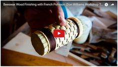 In part fourof the above video workshop tour, Don Williamsteaches how to use aFrench Polissoir with a beeswax wood polish to create an incredible 18th century historic furniture wood finish.