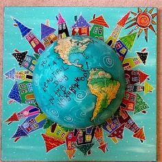 What if I used an old globe and put sight words in it ( sticky notes, tape, ?) kids spin and read. World of words???