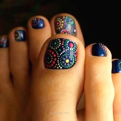 Nail art is a very popular trend these days and every woman you meet seems to have beautiful nails. It used to be that women would just go get a manicure or pedicure to get their nails trimmed and shaped with just a few coats of plain nail polish. Pretty Toe Nails, Cute Toe Nails, Get Nails, Toe Nail Art, Fancy Nails, Hair And Nails, Acrylic Nails, Coffin Nails, Gel Toe Nails