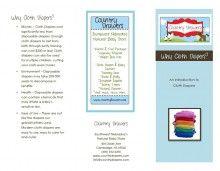 Free Cloth Diaper 101 Brochure
