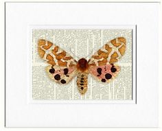 pink and brown butterfly print by FauxKiss on Etsy