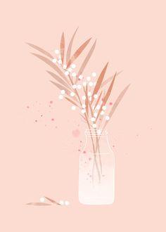 Illustration by Babeth Lafon Art And Illustration, Floral Illustrations, Flower Illustration Pattern, Botanical Drawings, Botanical Art, Illustration Botanique, Poster Art, Guache, Art Mural