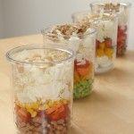 Experiment: Salat im Glas – für 1 Woche vorbereitet!