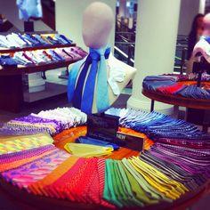 Drakes' rainbow of ties, Selfridges #fixuplooksharp