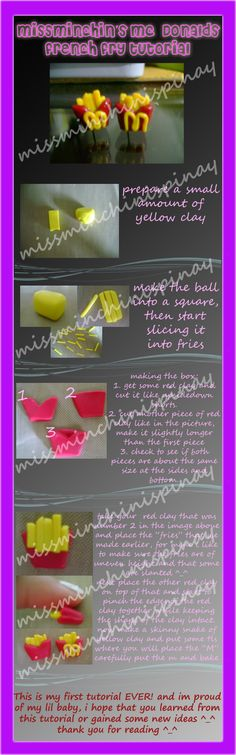 McDonald fries tutorial by ~MissMinchinIsPinay on deviantART
