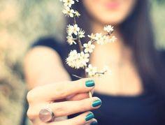 Una flor...