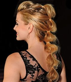 The Tiered Ponytail