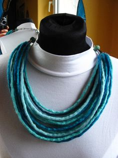 Felted+Necklace+Shades+Turquoise+Oxided+Silver+Felt+by+Strojownia,+$99.00