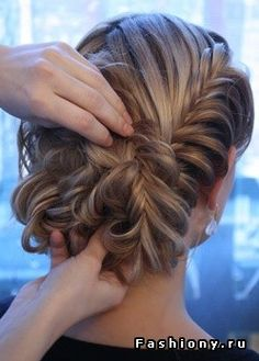 Pretty braid and up do