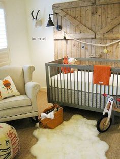 Rustic theme with orange OSU accents