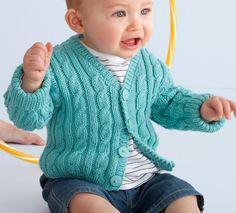 Modèle gilet bébé manches longues - Modèles gratuits - Phildar