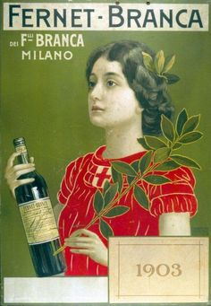 Fernet Branca. Looks like a Virgo archetype for this medicinal liqueur