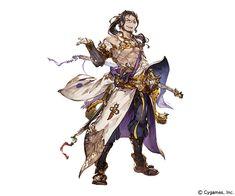Ronin Jin character design art from Granblue Fantasy Character Design Cartoon, Fantasy Character Design, Character Design References, Character Creation, Character Concept, Character Inspiration, Character Art, Armor Concept, Concept Art