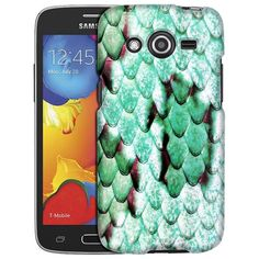 Samsung Galaxy Avant Snake Teal Skin Slim Case