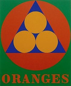 Oranges, Ltd Ed Silk-screen, Robert Indiana