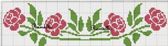 This Pin was discovered by ΕΛΕ Cross Stitch Cards, Cross Stitch Borders, Cross Stitch Rose, Cross Stitch Flowers, Counted Cross Stitch Patterns, Cross Stitch Designs, Cross Stitching, Cross Stitch Embroidery, Embroidery Patterns