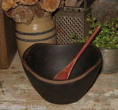 Child size wooden dough bowl