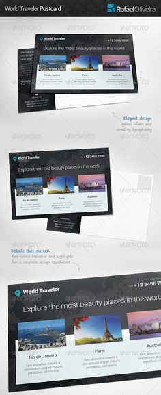 Postcard Print templates and Postcard template - postcard format template