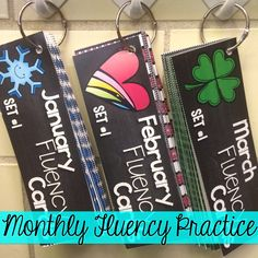 Monthly fluency cards are a great way to improve student's reading fluency skills!