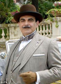 Agatha Christie's famous detective Hercule Poirot portrayed by David Suchet
