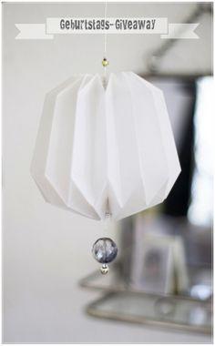 papier Plissee Anhänger Paper Plissee Lampion