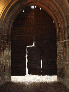 Ancient door.  Avignon, France