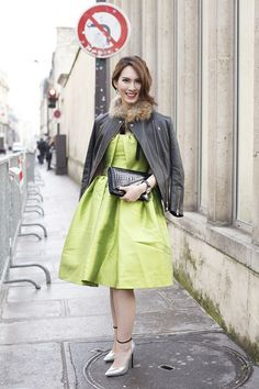 """Herlina Prakoso, jewllery designer  """"My dress is by The Second Skin Company and my jacket is by Louis Vuitton. My shoes are by Casadei and my bag is by Bottega Veneta."""""""
