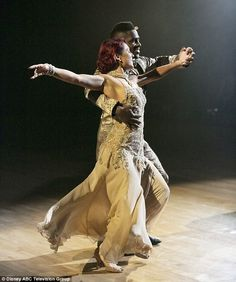 Not easy: He danced a Foxtrot with Sharna Burgess.