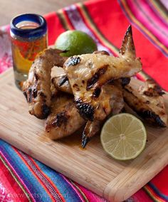 3 awesome chicken wing recipes including these Tequila Lime Chicken Wings. Game day food at it's finest.