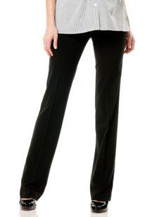 Motherhood Maternity: Secret Fit Belly(tm) Bi-stretch Suiting Straight Leg Maternity Pants $34.98