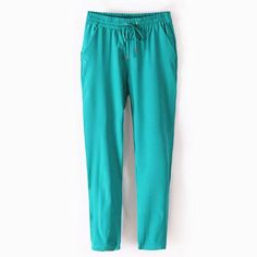 2017 Spring Summer Women Pants Solid Chiffon Harem Pants Lady Elastic Waist Trousers Women Casual Sweet Pant