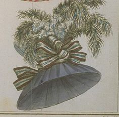 Magasin des Modes, December 1787.    Forgive the brief hat spam from Magasin des Modes. I'm making a big hat like this and I need a place to park these images.