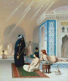 Jean-Léon Gérôme -  Une piscine dans le harem.  ca. 1876