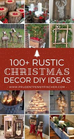 Give your home a cozy makeover with these rustic Christmas decorations without breaking the bank. There are indoor and outdoor DIY Christmas decor ideas Diy Christmas Decorations For Home, Diy Christmas Gifts For Family, Dollar Store Christmas, Farmhouse Christmas Decor, Christmas Tree Themes, Homemade Christmas, Rustic Christmas, Christmas Home, White Christmas