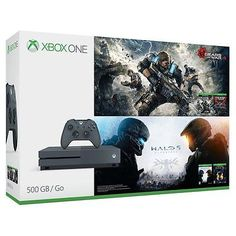 [$239.99 save 37%] Xbox One S 500GB Console - Gears of War & Halo Special Edition Bundle - Grey #LavaHot http://www.lavahotdeals.com/us/cheap/xbox-500gb-console-gears-war-halo-special-edition/217510?utm_source=pinterest&utm_medium=rss&utm_campaign=at_lavahotdealsus