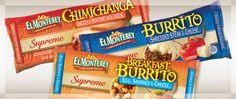 Burritos El Monterey a $0.63 en Walmart