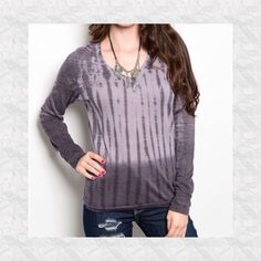Purple Haze Tie-Dye Top Lightweight long sleeve top. Looks amazing with denims!! PP Trades Holds Tops Blouses