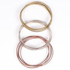 shimmery bangles tricolor trio - Salt & Air http://saltandair.com/product/shimmery-bangles-tricolor-trio/