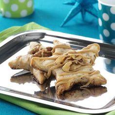 Caramel-Walnut Star Cookies.  Given 5 stars