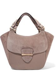 Josie large suede and leather tote
