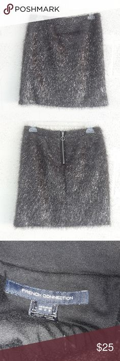 b5d3013cf4c French Connection Silver Skirt Silver shimmery skirt