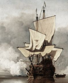 - Willem van de Velde II - Artists - Explore the collection - Rijksmuseum Bateau Pirate, Arsenal, Dutch Golden Age, Vintage Boats, Nautical Art, Ship Art, Fine Art, Tall Ships, Sailing Ships