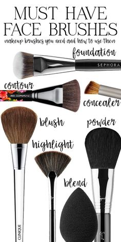 #ad Great overview of makeup face brushes. Which ones are the best, which brushes do you need, and how do you use them?
