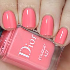 Dior Spring Bouquet from the Trianon Collection. This color makes my heart race:). Hello Beautiful, Mani Pedi, Spring 2014, Beauty Hacks, Beauty Tips, Nail Colors, Swatch, Wedding Hairstyles, Dior