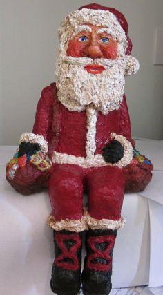 Santa Claus Figurine sets on a Shelf Table by DessieFullTimeArtist, $350.00