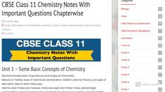 Chemistry Class 11 Notes with Important Question Answers 11th Chemistry Notes, Chemistry Class 11, Chemistry Revision, Science Notes, Worksheets For Class 1, Environmental Chemistry, Model Question Paper, Revision Notes, Sample Paper