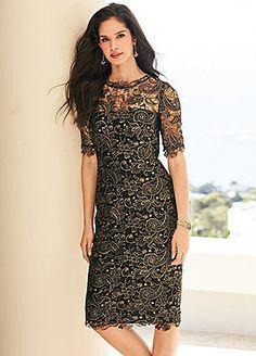 Foil Print Lace Dress #kaleidoscope #occasionwear