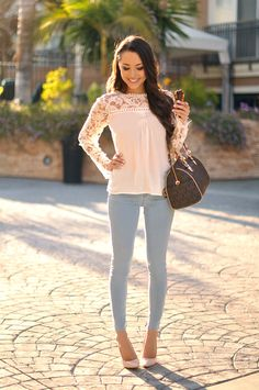 Sheinside blouse, Topshop denim, Boutique 9 heels, Michael Kors bag