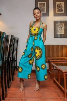 Rock the Latest Ankara Jumpsuit Styles these ankara jumpsuit styles and designs are the classiest in the fashion world today. try these Latest Ankara Jumpsuit Styles 2018 African Inspired Fashion, African Print Fashion, Africa Fashion, Ethnic Fashion, Fashion Prints, Fashion Design, Fashion Black, African Print Dresses, African Fashion Dresses