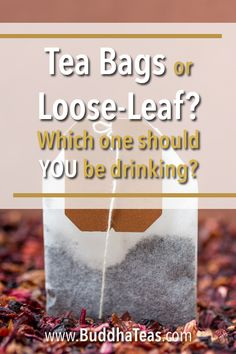 For years, the question has been asked - which is better, tea bags or loose-leaf? We'll attempt to answer that question as we look at the pros and cons of both. Click through to see the mystery revealed! Tea Facts, Tea Blog, Best Tea, Loose Leaf Tea, Tea Recipes, Teas, Buddha, Tea Cups, Mystery